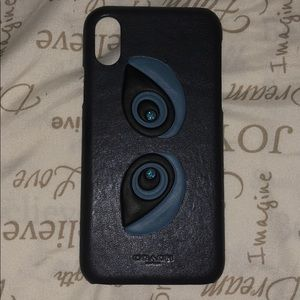 Coach iPhone X  snap on case